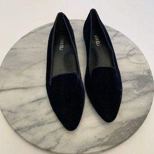 "VANELi ""GANNIE"" diamond pattern navy blue loafer"